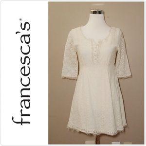 Francesca's Ivory Lace Dress